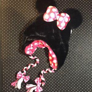 Disney Minnie Ears w/Bow Adult Size Winter Hat